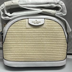 New & Authentic Kate Spade Sylvia Straw Whitedove